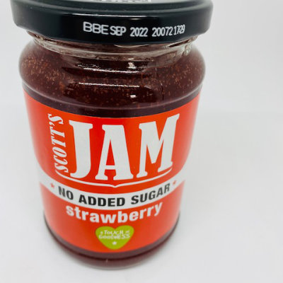 Scotts no added sugar Strawberry Jam 340g